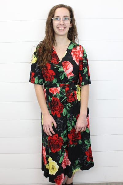 Wrapped in Roses Dress