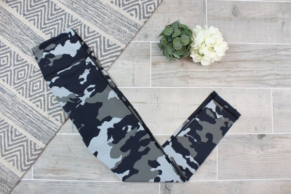 High Waist Camo Workout Leggings