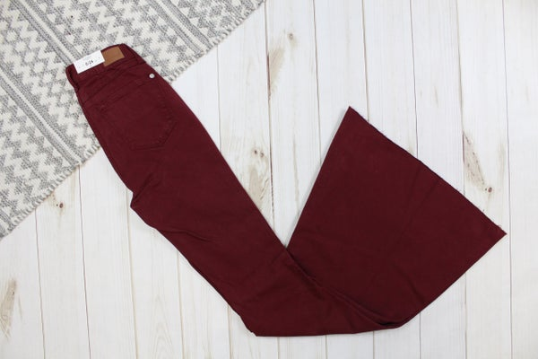 Judy Blue Maroon Super Flare Jeans