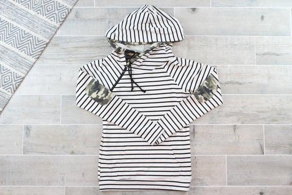 Camo Striped Hoodie