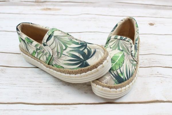 Palm Leaf Slip Ons