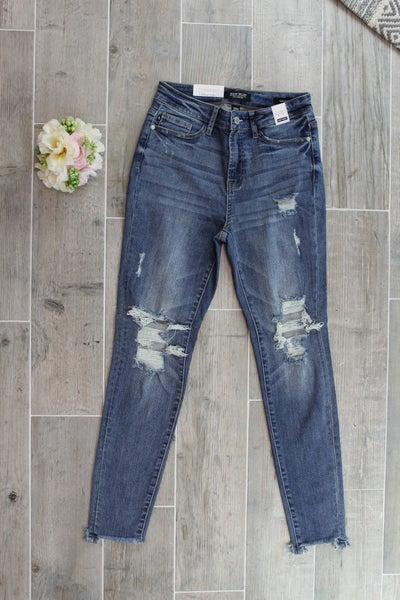 Knee Destroyed Judy Blue Skinny Jeans