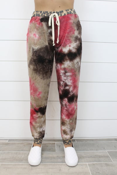 Wildin' Out In These Tie Dye Joggers