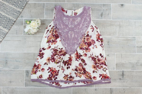 Laced Up Flowy Top