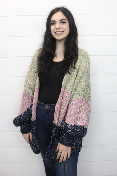 Color Speckle Sweater Cardi