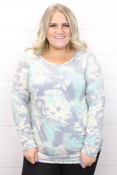 Beach Vibes Tie Dye Pullover