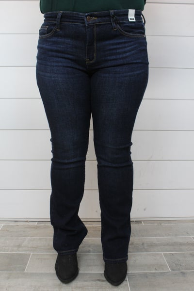 Judy Blue Whiskered Dark Bootcut Jean