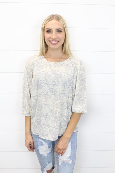 A Simple Floral Top