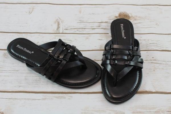 Black Knot Strap Flip Flops