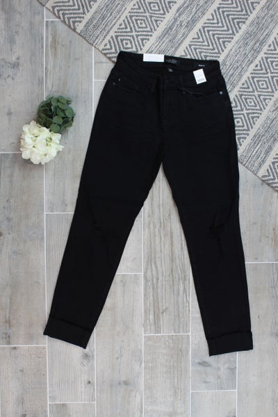 Judy Blue Mid Rise Destroyed Slim Fit Jeans