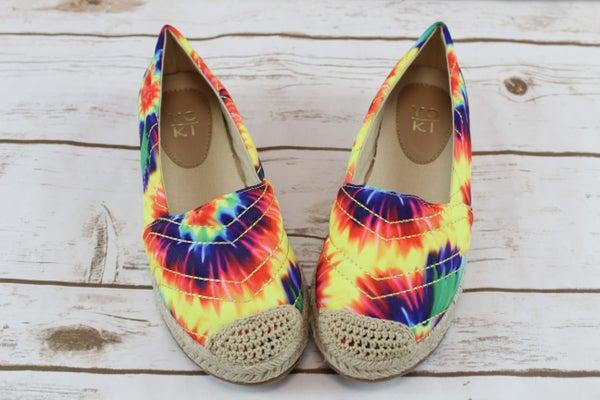 Neon Tie Dye Slip-on Shoe