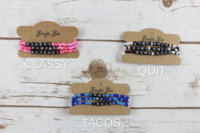 Boujie Bee Beaded Bracelets