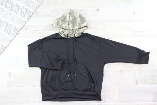 Hoodie With A Pop Of Camo