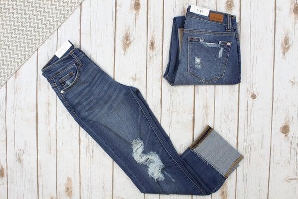 Cuffed Straight Fit Judy Blue Jeans