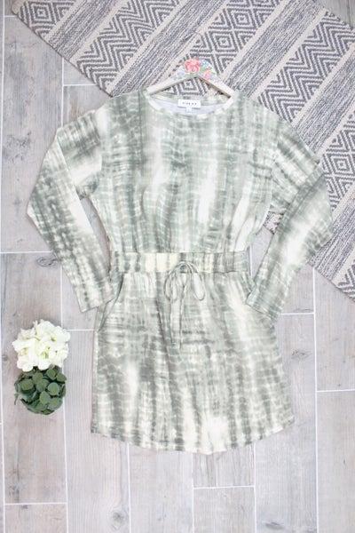 Long Sleeve Tie Dye For Dress