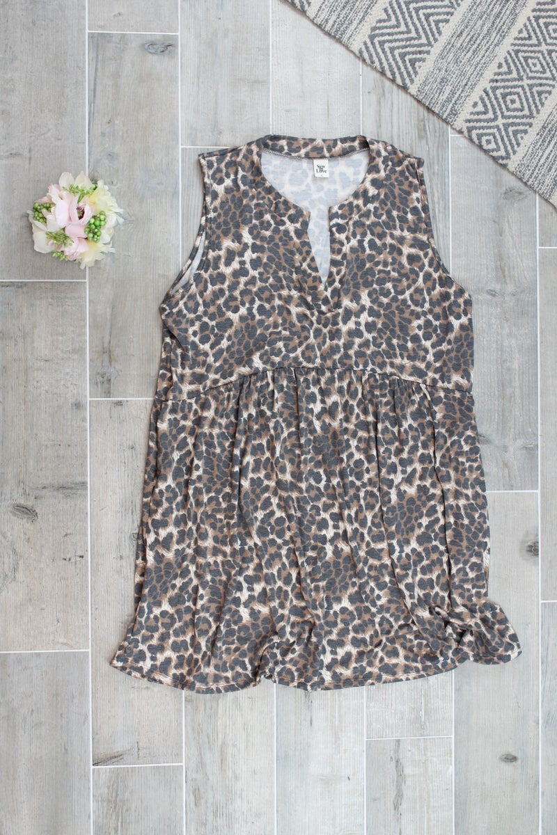 All About The Cheetah Sleeveless Dress
