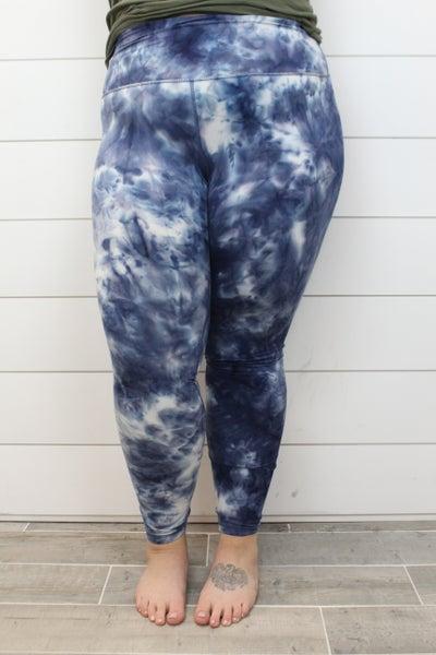 Blue Skies Tie Dye Leggings