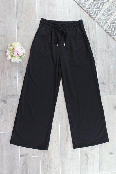 Basic Black Wide Leg Pants