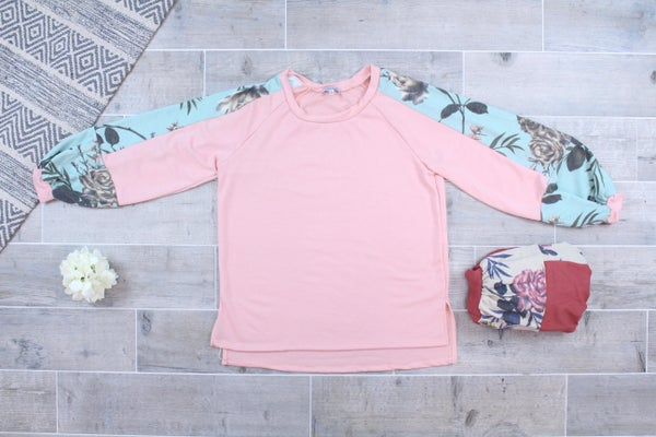 A Touch Of Floral Crewneck Top