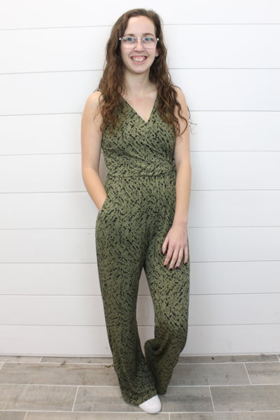 Abstract Tie Jumpsuit