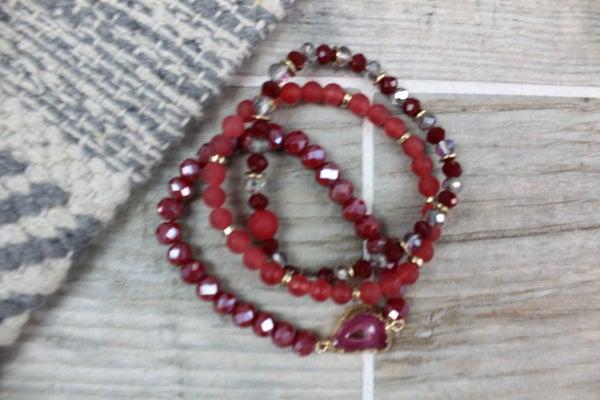 Natural Stone and Bead Bracelet Set