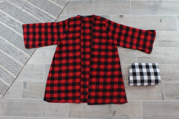 Layering Buffalo Plaid Cardigan