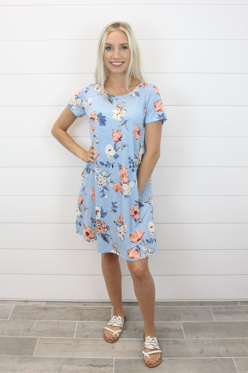 Adorable Floral Bulgari Dress with Pockets