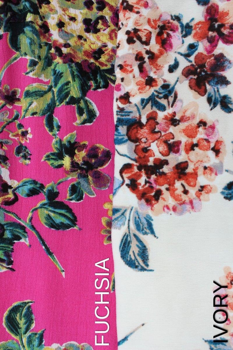 Sleeveless Criss Cross Floral Dress