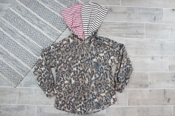 Cheetah Hoodie With Some Stripes