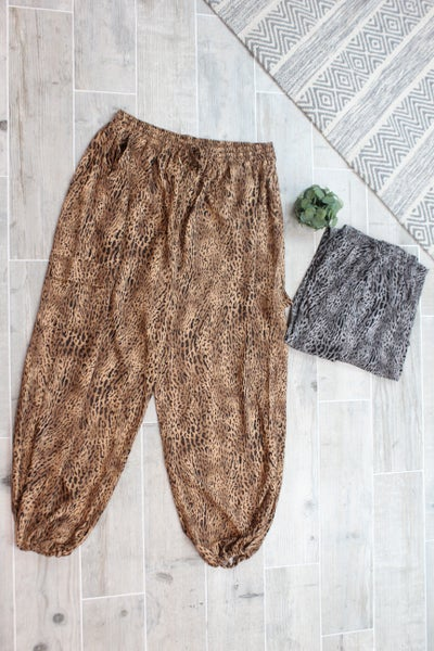 Leopard Cargo Pants