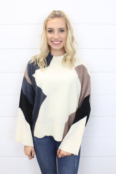 Oversized Colorblock Sweater