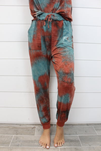 Tie Dye Patch Pocket Joggers