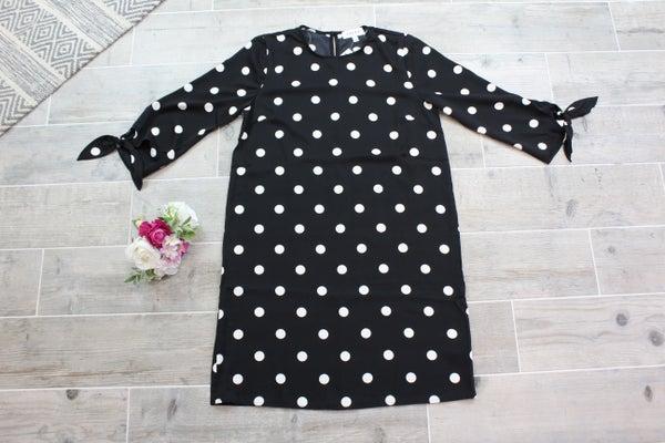 Knot Your Basic Polka Dot Dress