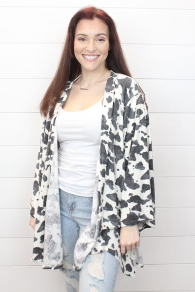 Crazy For Cow Print Cardi