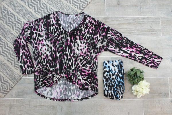 Leopard Twist Top