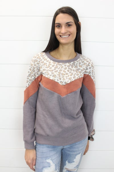 In The Wild Color Block Sweater