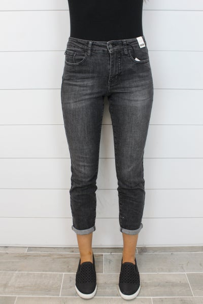 Judy Blue Handsand Cuffed Boyfriend Jeans
