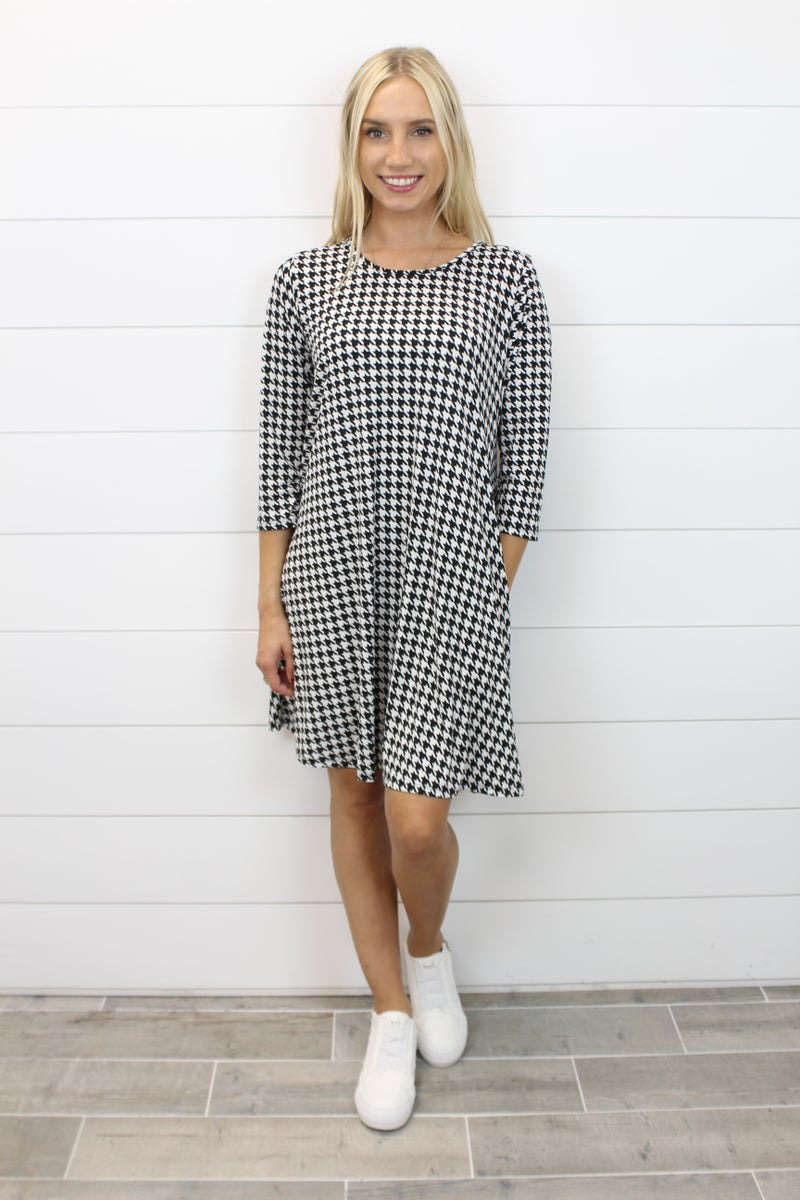 Heading Out In My Houndstooth Dress