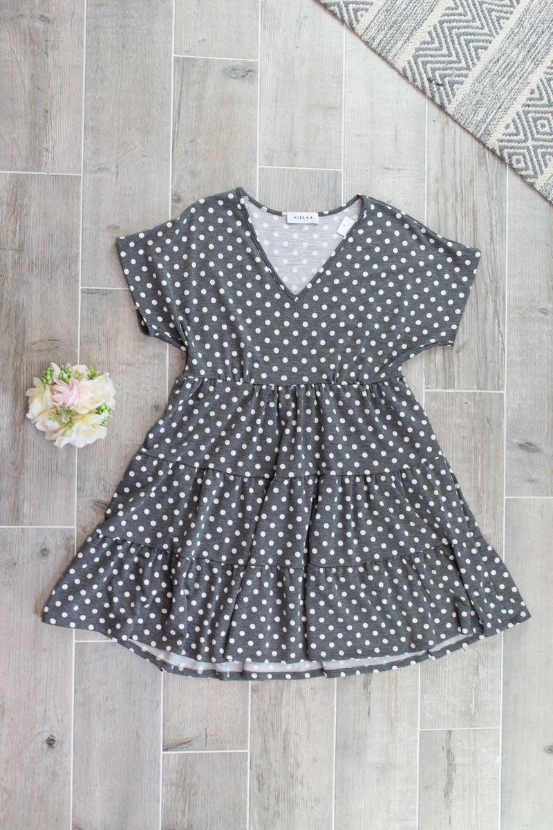 Babydoll Polka Dot Dress