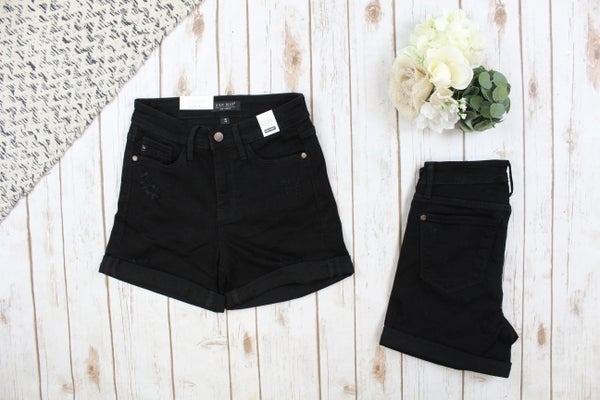 Black High Rise Judy Blue Shorts