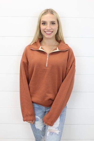 Zip Me Up Turtleneck Sweatshirt