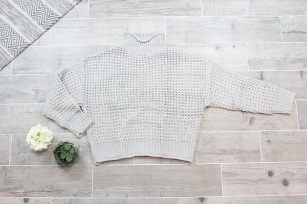 Your Basic Crochet Turtleneck Sweater
