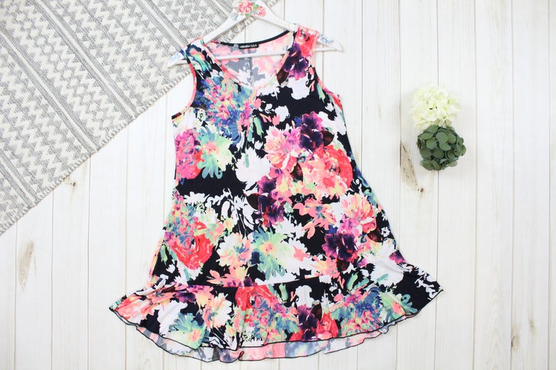 Floral Sleeveless Swing Dress