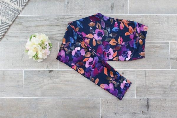 Water Color Floral Leggings