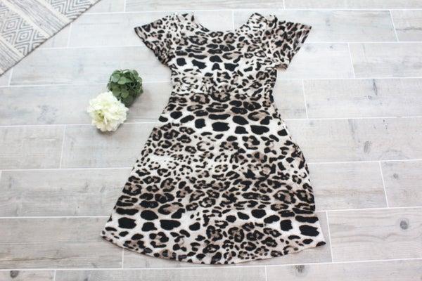 Tie Back Cheetah Dress