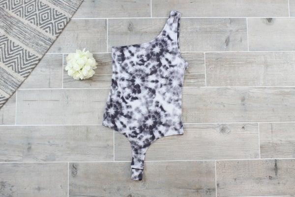 Charcoal Tie Dye Bodysuit
