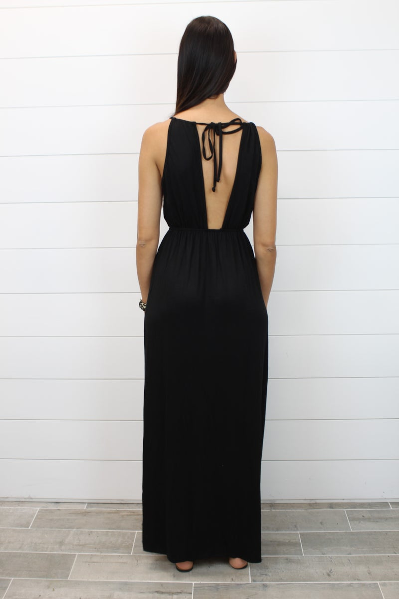 Your Everyday Black Maxi Dress