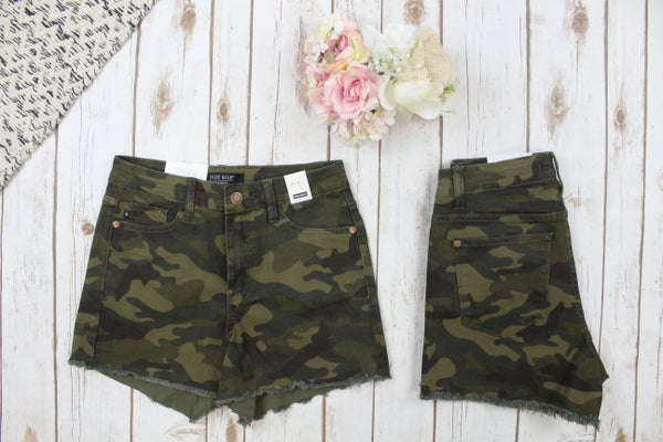 Look At My Judy Blue Camo Shorts