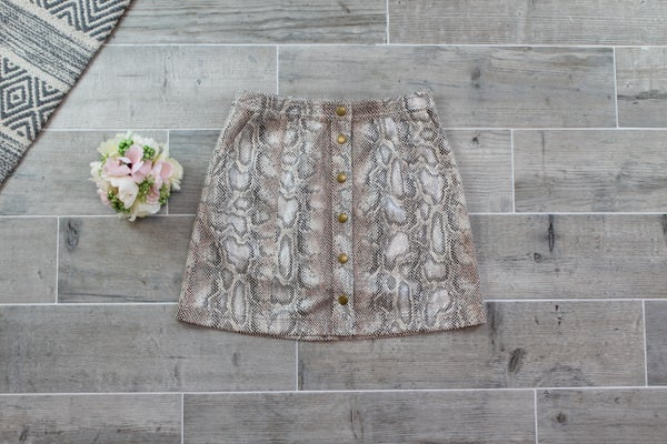 Snake Net Mini Skirt