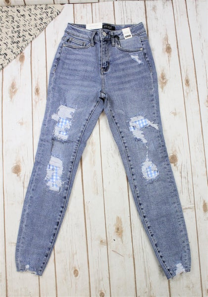 Judy Blue Gingham Patch  Skinny Jean